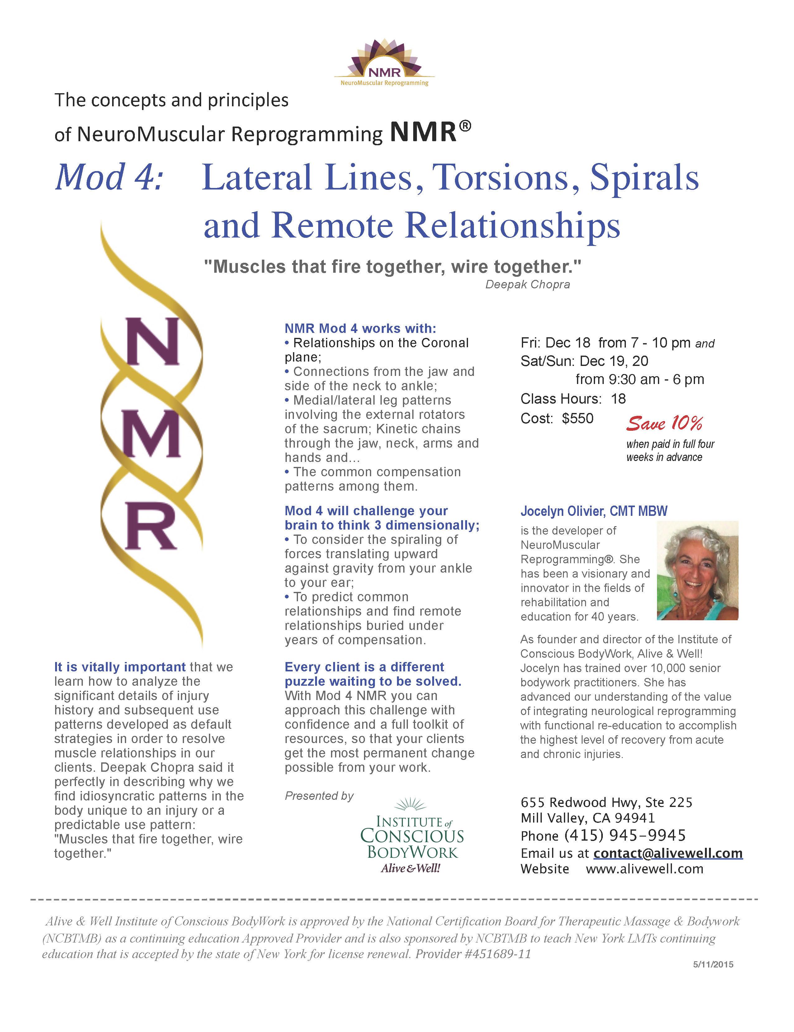 Nmr Certification Neuromuscular Reprogramming